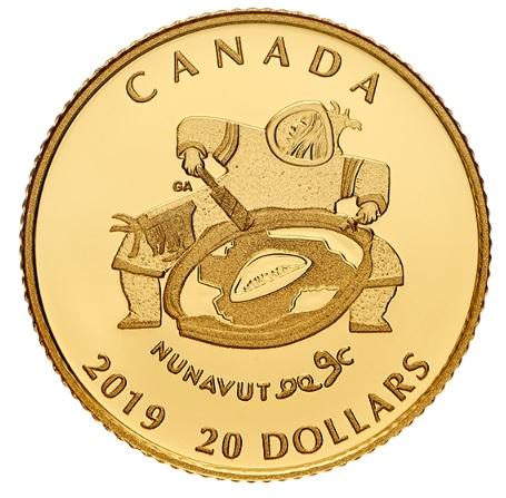 Фото Золотая монета в чес