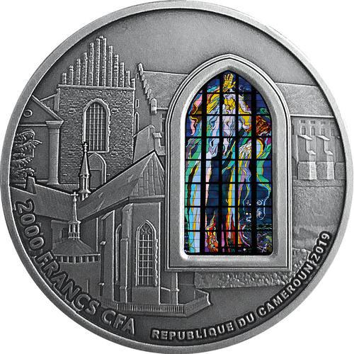Фото Монета со стеклянной