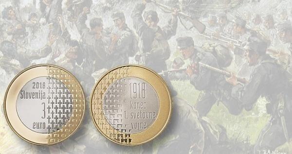 Фото Монета 3 евро на вое