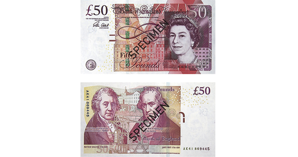 Фото Банкнота Англии 50 ф