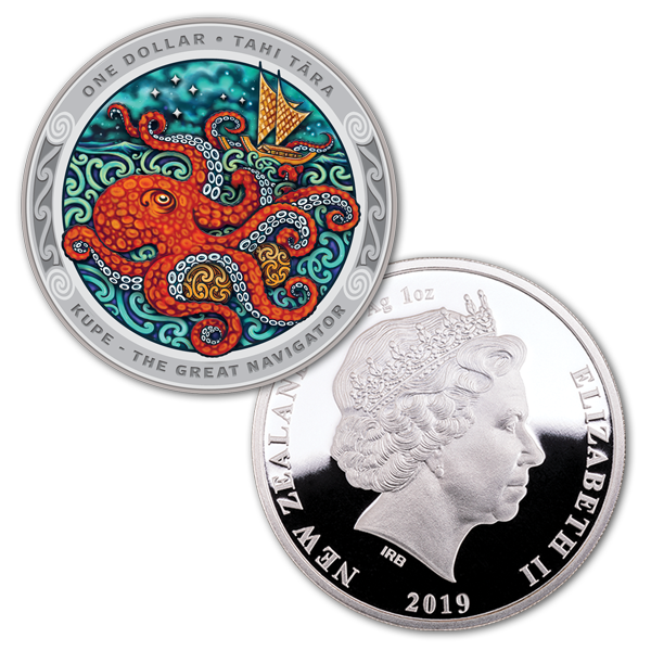 Фото Цветная монета посвя