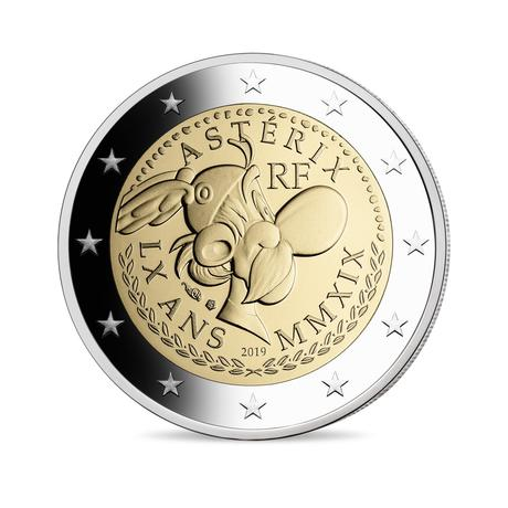 Фото 2 евро с изображение