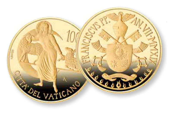 Фото Золотая монета 100 е