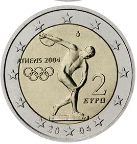 Монета 2 евро Олимпийские игры